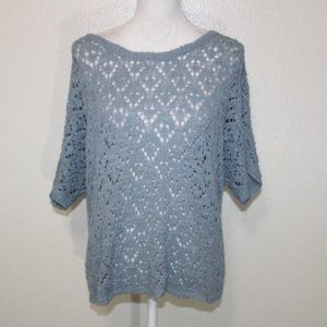 A. Giannetti Acrylic Textured Knit Sweater Top